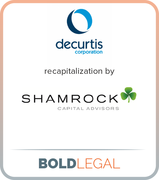 Decurtis recapitalization by Shamrock Capital Advisors